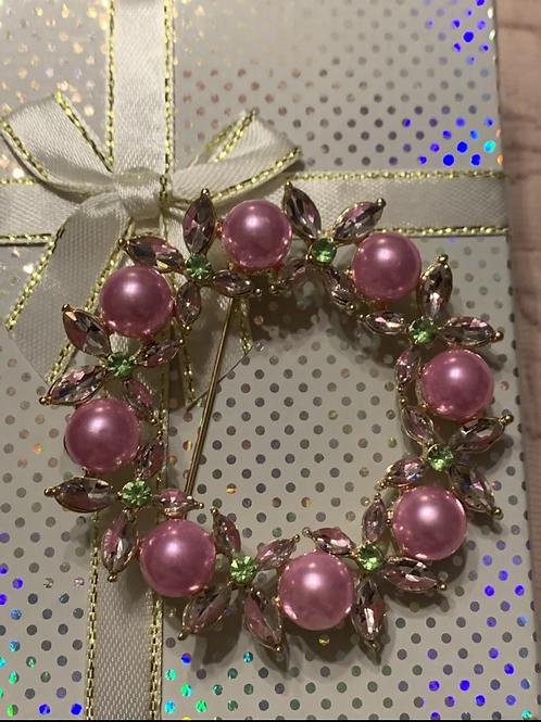 Cz pearl  wreath  #p1351