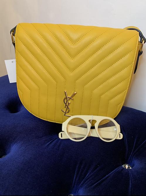 Inspired YSl handbag yellow