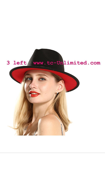 Unisex  black Fedora  60cm hat preorder