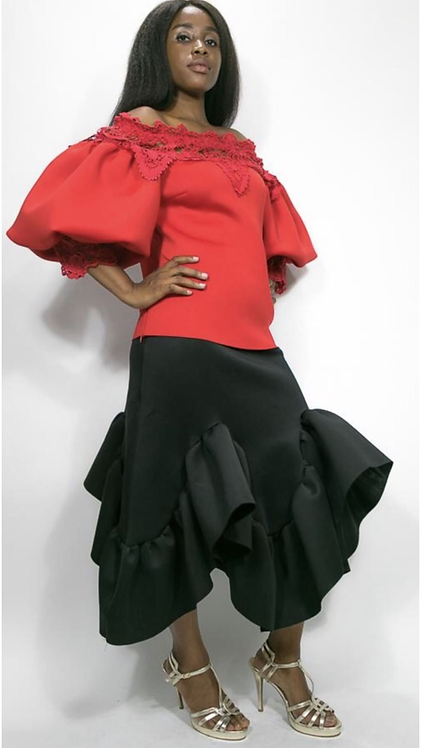 N by nancy Beautiful ruffle skirt c 1833