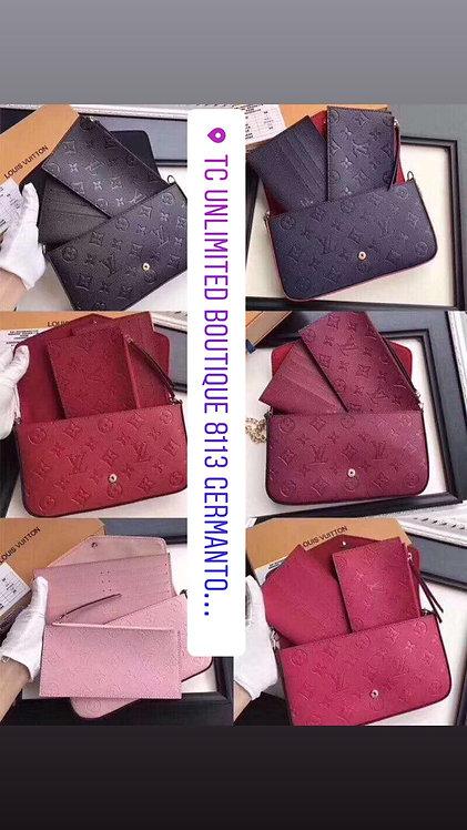 Lv handbag 61276 embossing