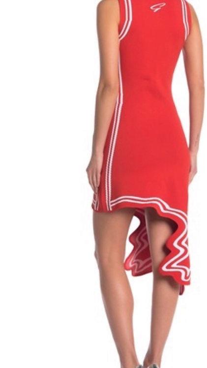 Gracia Wave Cut Hem Knit Bodycon Dress (Regular & Plus Size)