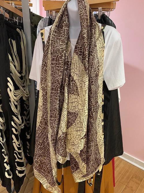 Inspired Chanel silk scarf