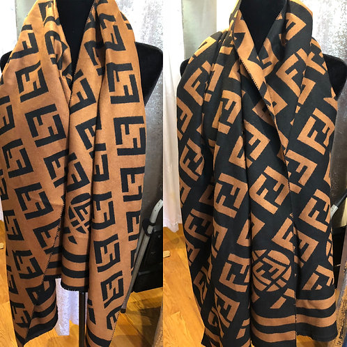 Inspired  wool Fendi scarf