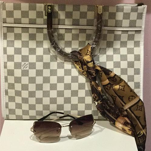 LV checkered handbag