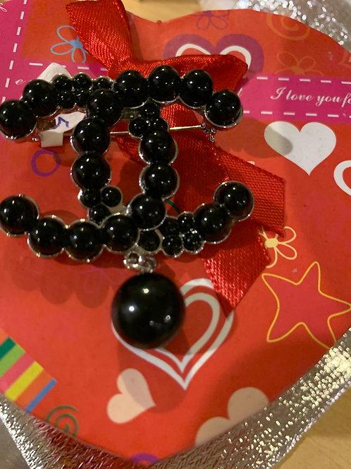 Black Pearl brooch  003