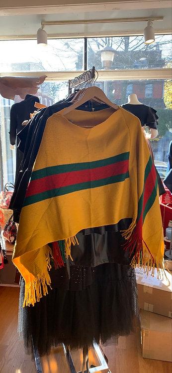 New red/green stripe shawls !!