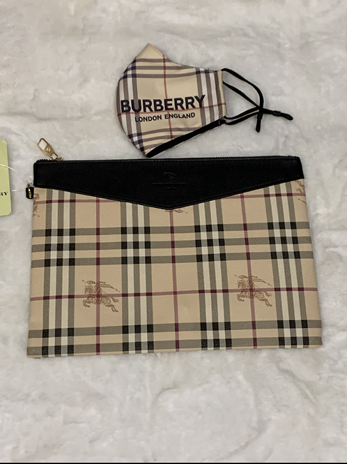 Inspired Burberry clutch