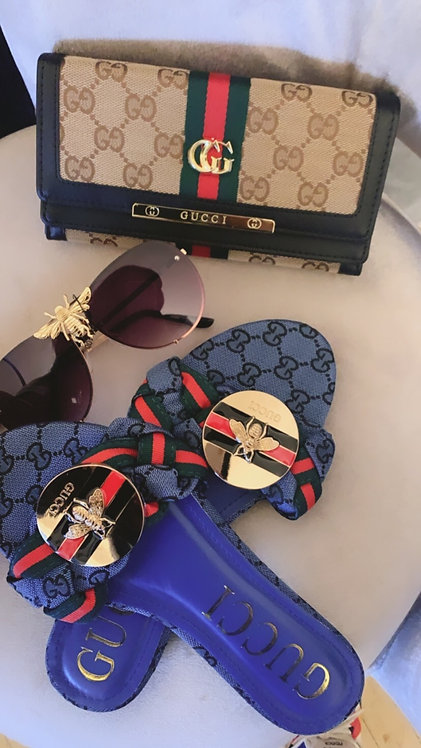 Classic GG Monogram Slide Sandals