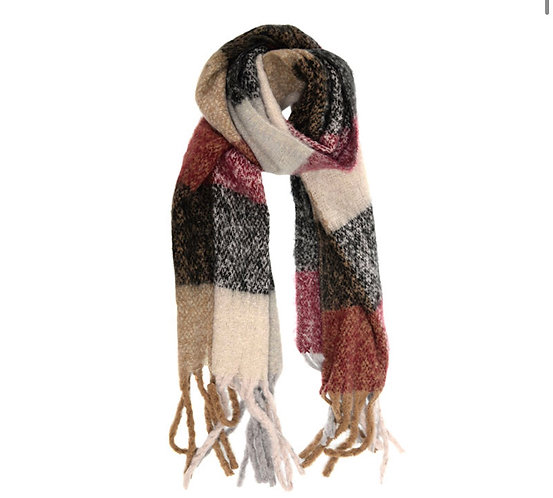 J4226-15 Color Block Scarf