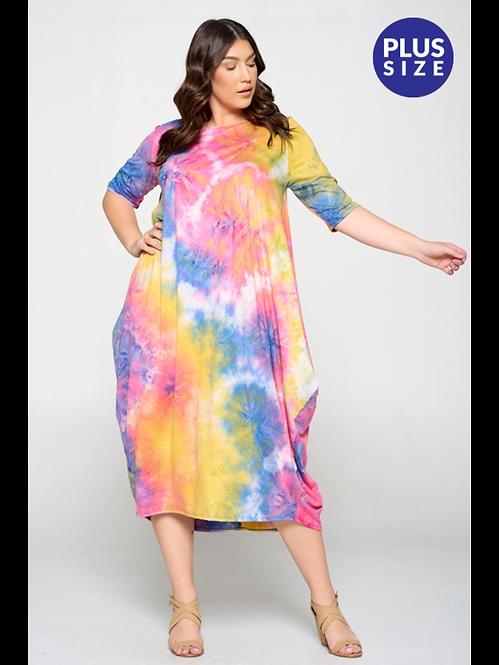 Splash of Tye Die Plus Dress