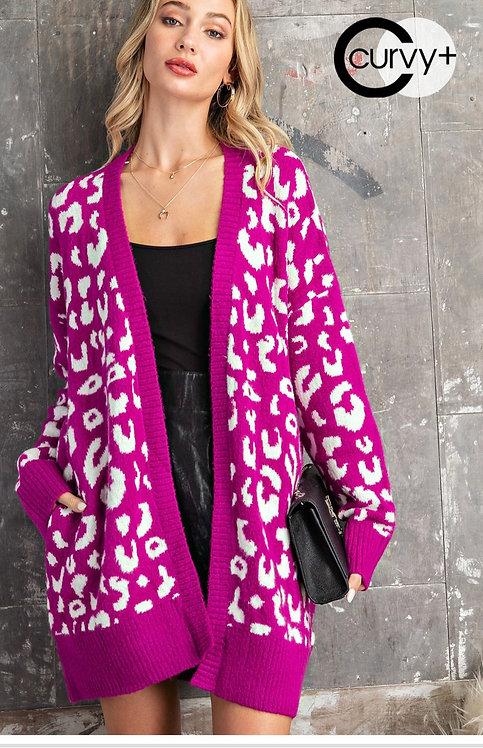 Fuschia / Ivory Sweater