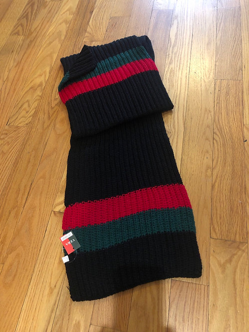 Black red and green scarf