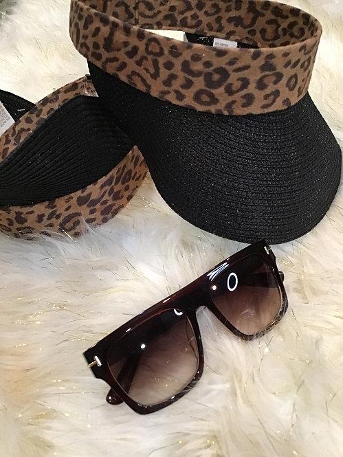 Animal print head visor  #13