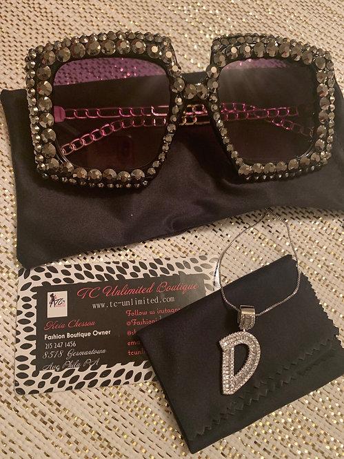 Glitter shades y1131 black