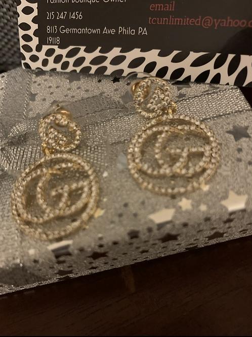 GG bling earrings