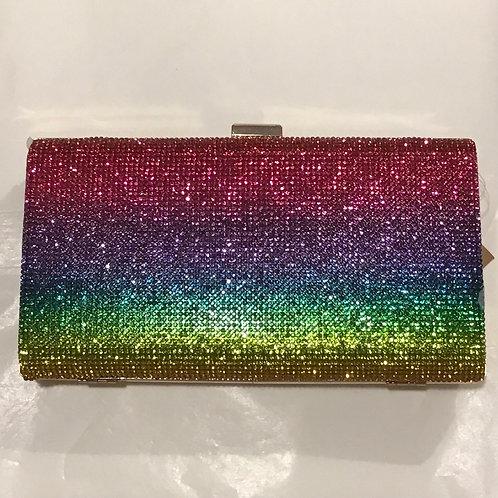 Rainbow Bling clutch