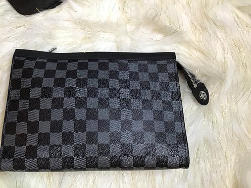 Inspired lv checker clutch black checker
