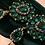 Thumbnail: Beautiful large Green bling earrings