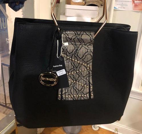 Handbag sales black - croc handbag