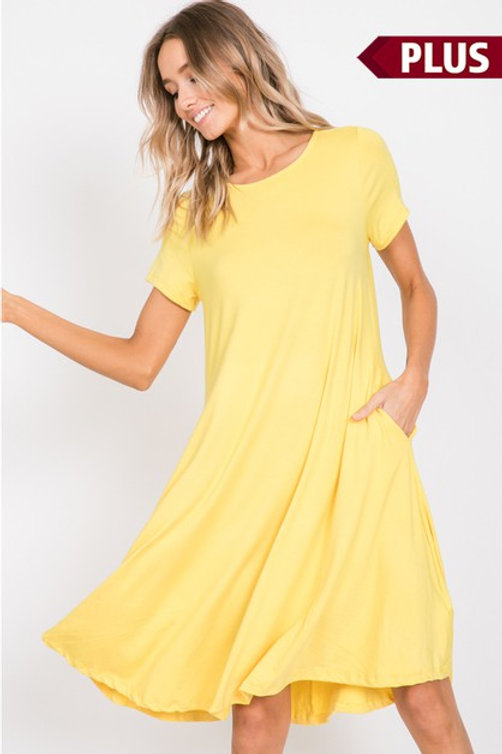 Yellow Maxi dress plus size only