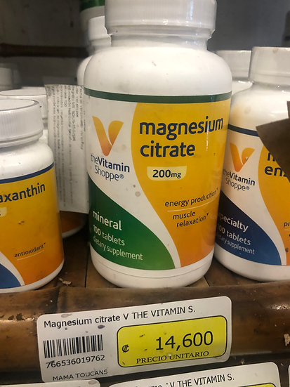 Magnesium Citrate 200mg (100 Tablets)