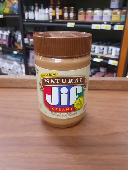 Jiff all nat peanut butter