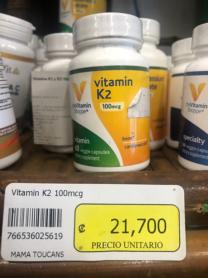 Vitamin K2 100mcg (60 Veggie Caps)