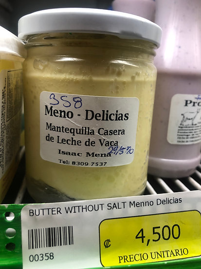 Meno Delicias Unsalted Butter