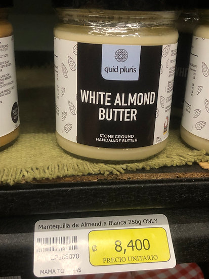 Artisanal White Almond Butter