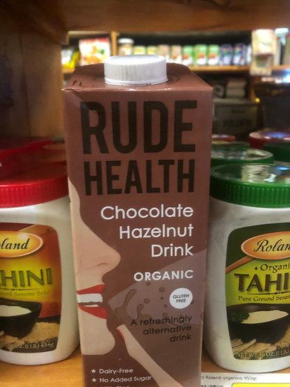 Rude Health Chocolate Hazelnut Milk (1L)