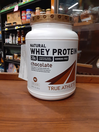 Natural whey protein chocolate true