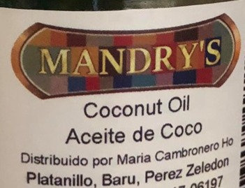 Mandry's Coconut Oil (355ml)