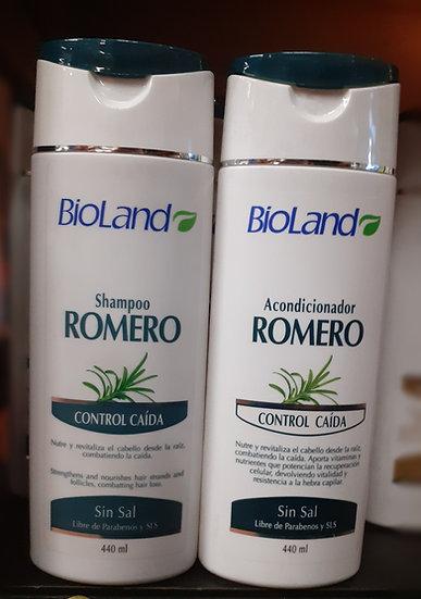 Bioland Romero Shampoo  control caída 440ml