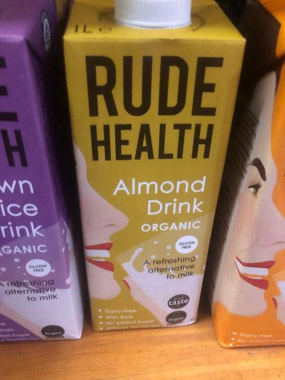 Rude Health Organic Almond Milk (1L)