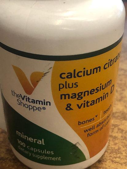 Calcium Citrate + Magnesium/Vitamin D (100Caps)