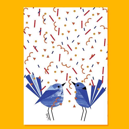 COUPLE CELEBRATION ART CARD