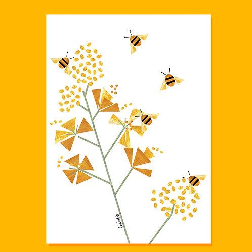 BEES ART CARD