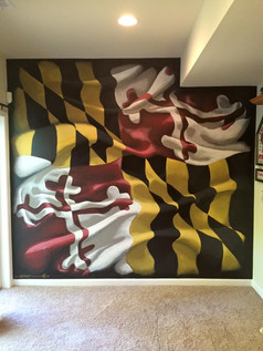 Fresh Paint: Maryland Flag Art