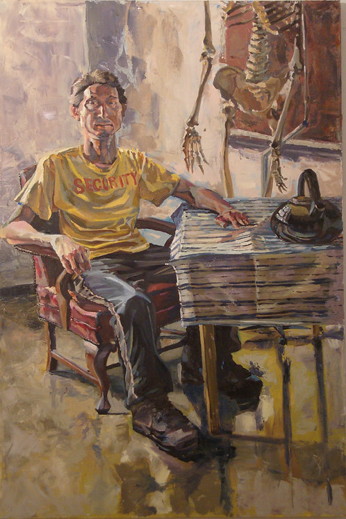 Seated Male Painting