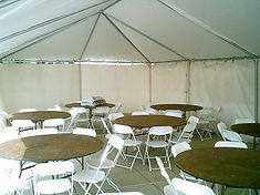 table chair tent rental wedding