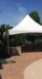 frame tent rental patio