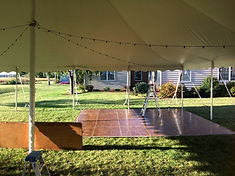dance floor wedding tent rental