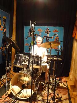 Tom in studio drum room