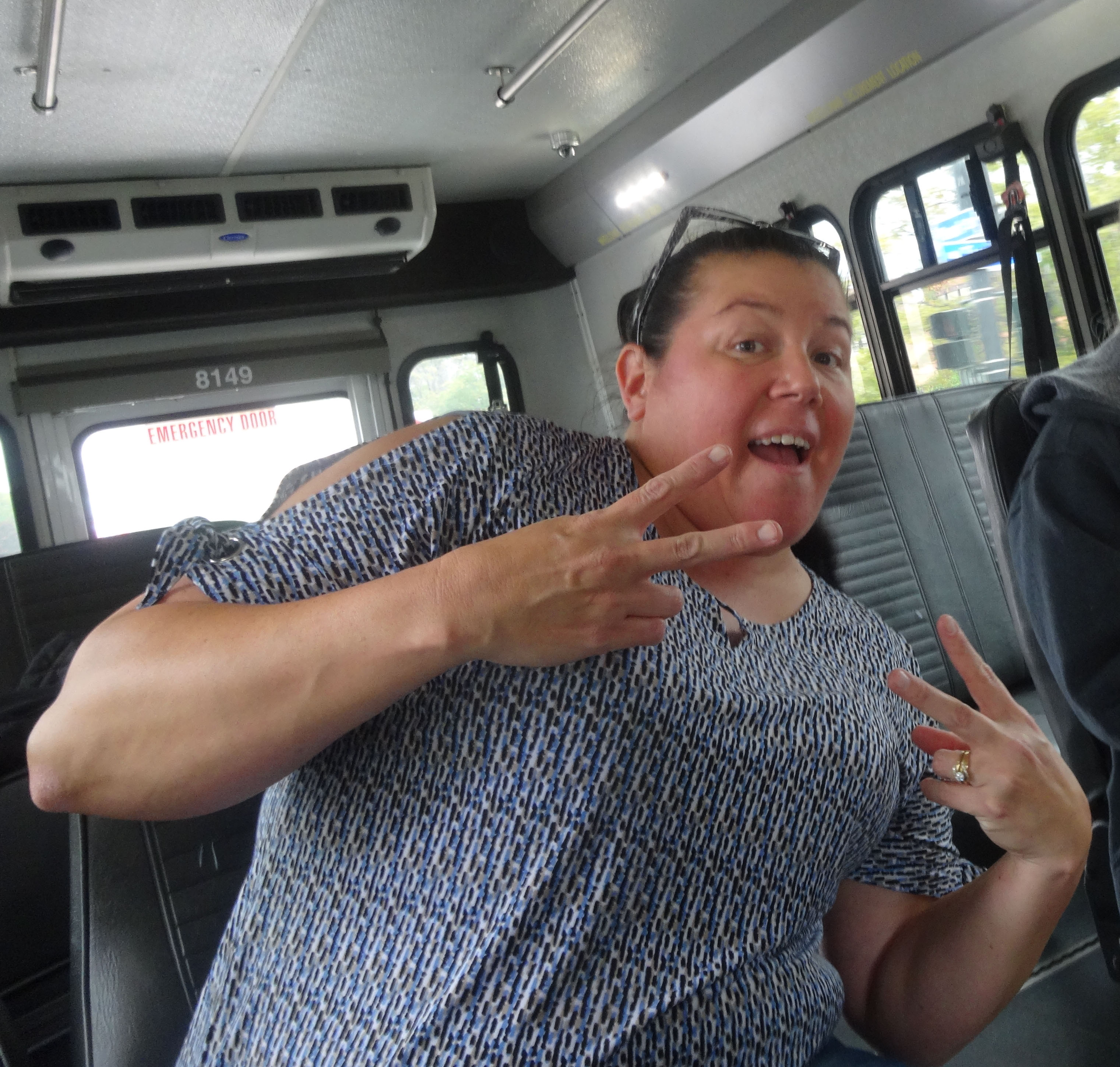 Mel on Buffalo city bus