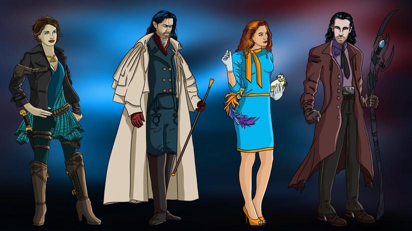 Zenobia, Rodrick, Vivian, and Renly in book 2