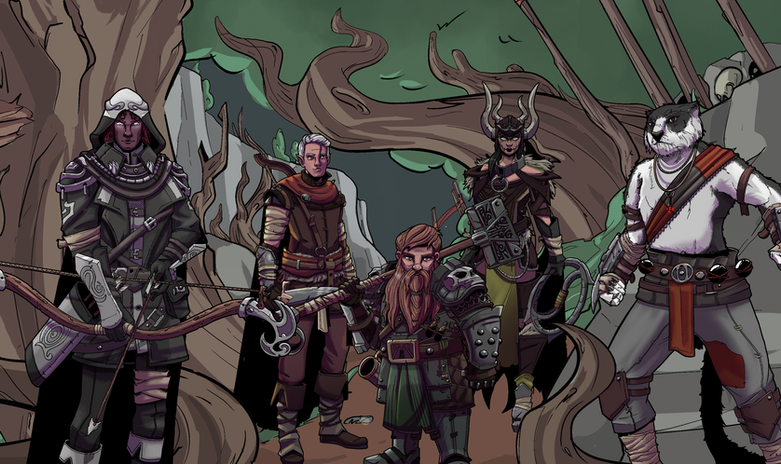 Kabal, Xo'bere, Dwarfy, Carrie the One, and Diego