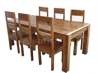 Acacia wood dining tble