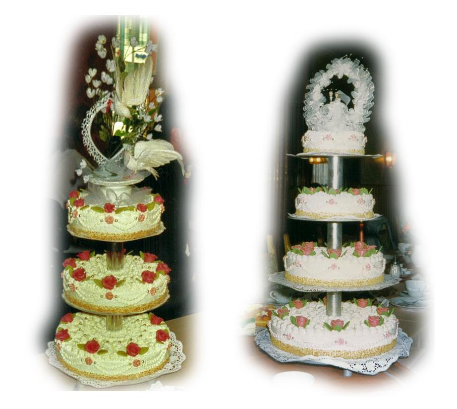 Hochzeitstorte mehrstufig Creme