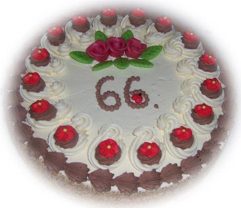 Cremetorte zum Geburtstag